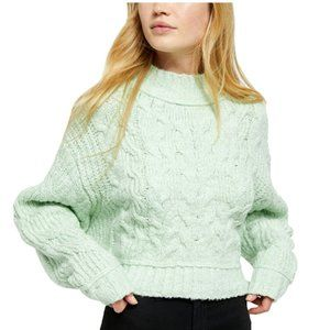 Free People Merry Go Round Sweater in Mint, size M